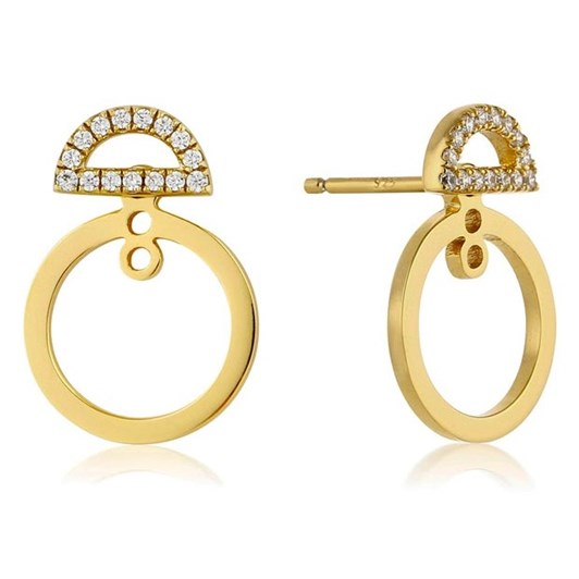 A. Haie Touch Of Sparkle Hoop Earrings