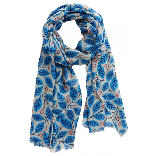 Seasalt Pretty Printed Scarf Engraved Foliage Cobble