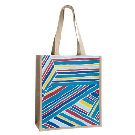 Seasalt Jute Shopper Windbreak Stripe Zennor
