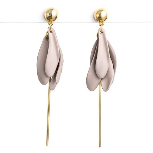 Stella & Gemma Petal Bud Grey Earring