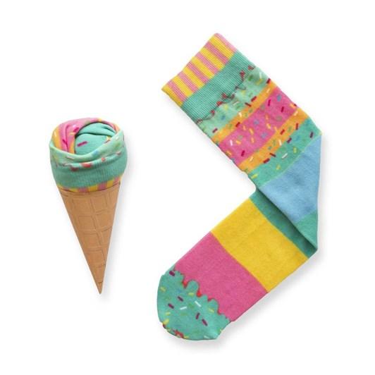 Short Story Ice Cream Socks Rainbow