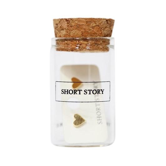 Short Story Funky Play Earrings Love Heart Gold