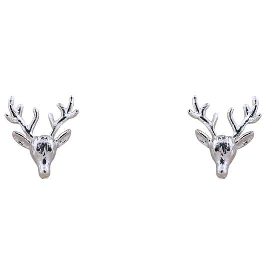 Short Story Earring Deer Silver