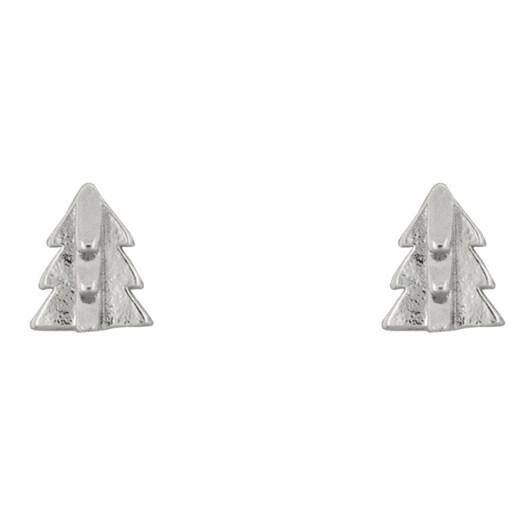 Short Story Earring Christmas Tree Silver