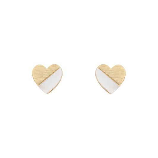 Short Story Earring 925 Heart Gold