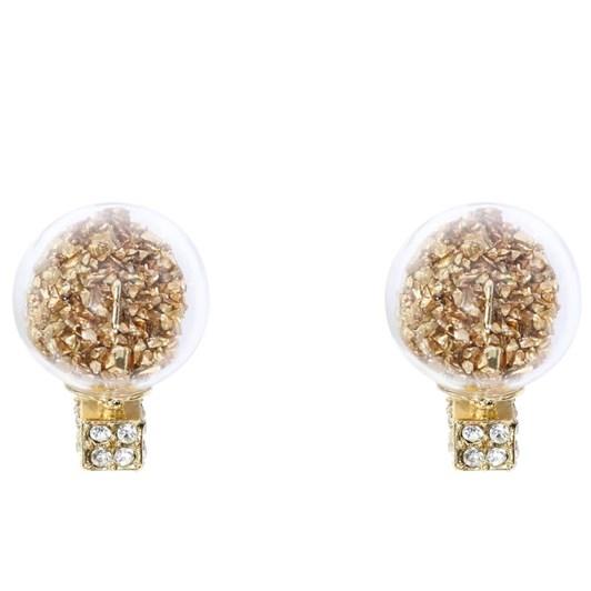 Short Story Bubble Earring Confetti Gold