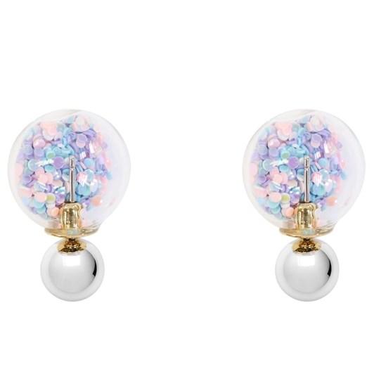 Short Story Bubble Earring Confetti Pastel