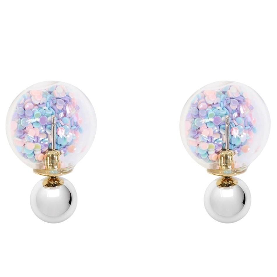 Short Story Bubble Earring Confetti Pastel -