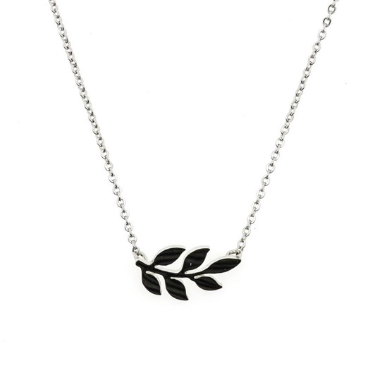 Short Story Necklace Simple Leaf Silver