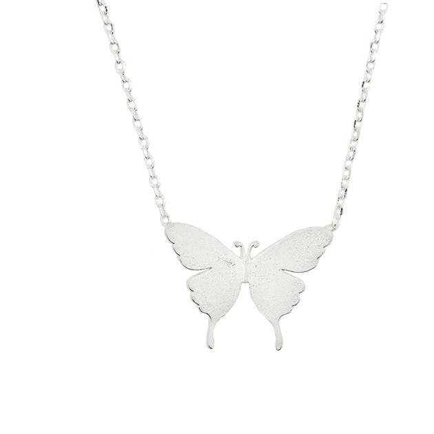 Short Story Necklace Butterfly Silver -