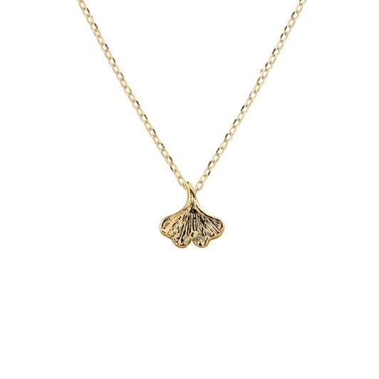 Short Story Necklace Ginko Leaf Gold