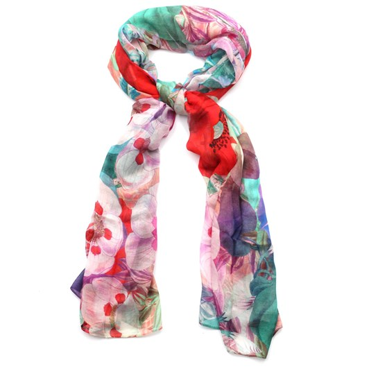 Front Row Society Vibrant Wild Flowers Scarf