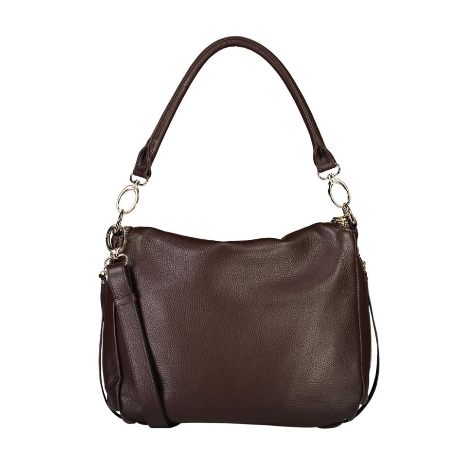 Saben Frankie Leather Handbag - cocoa