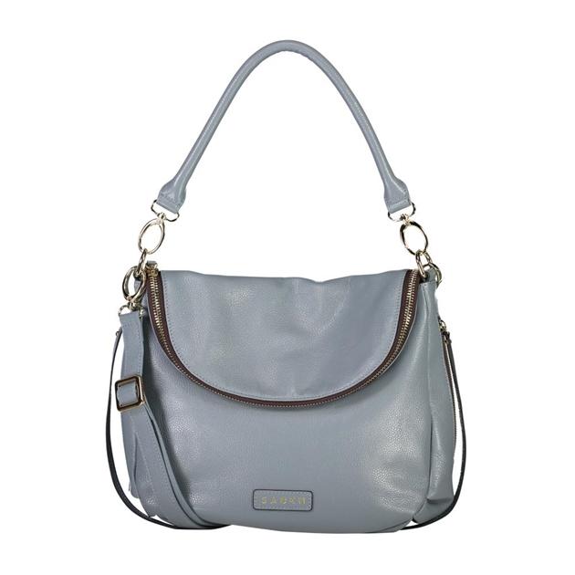 Saben Frankie Leather Handbag - grey blue