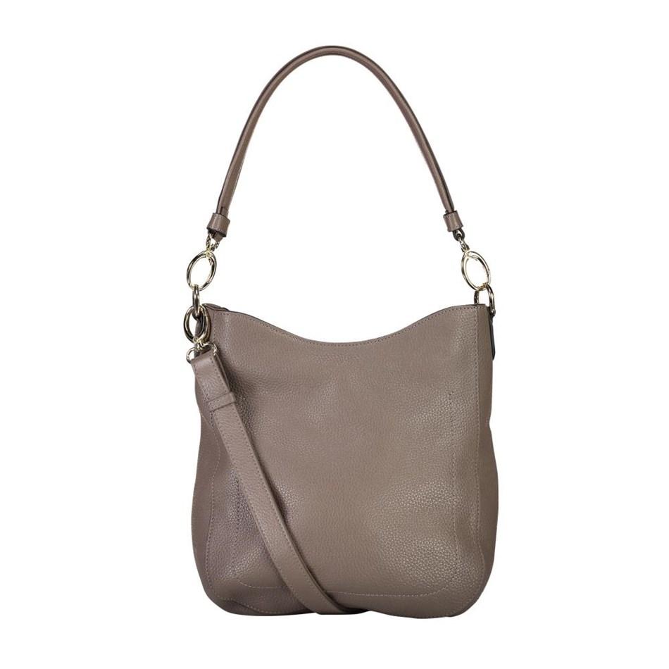 Saben Rebe Leather Handbag - smoke