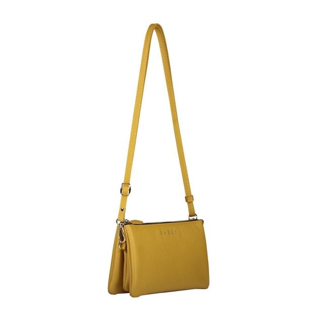 Saben Tilly With Strap Leather Handbag - mustard