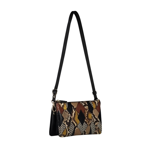 Saben Tilly With Strap Leather Handbag - patchwork