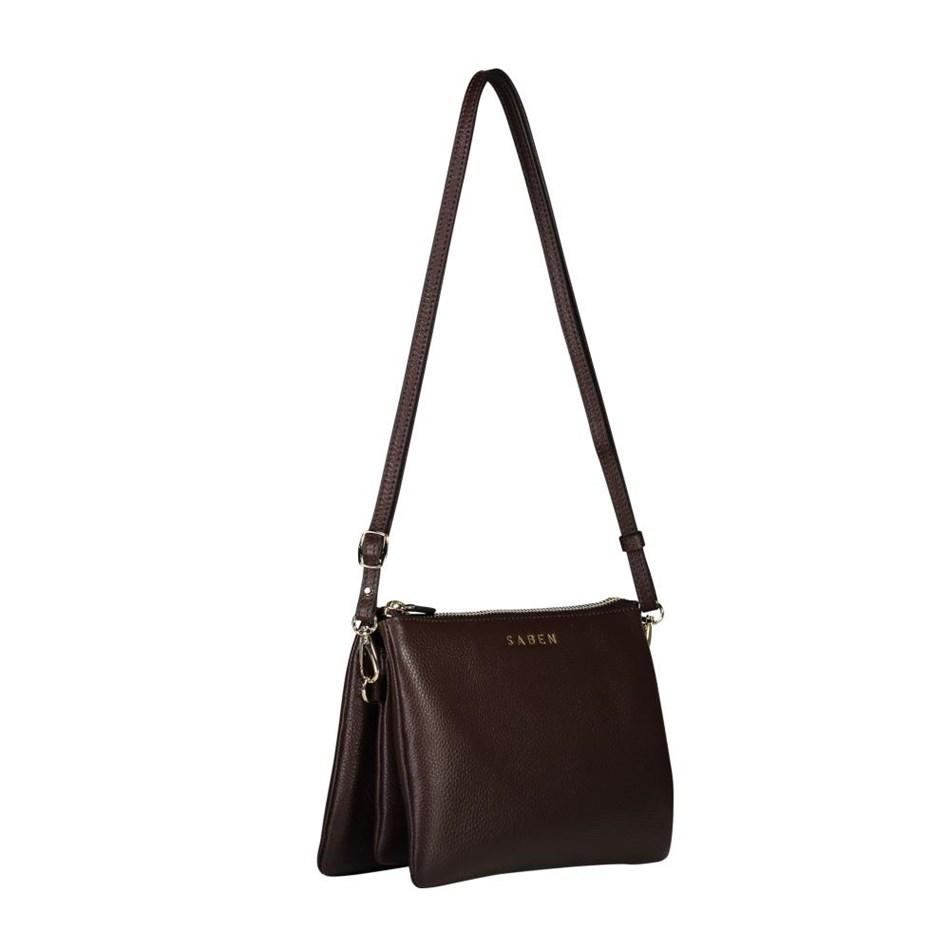Saben Tilly's Big Sis Leather Handbag - cocoa
