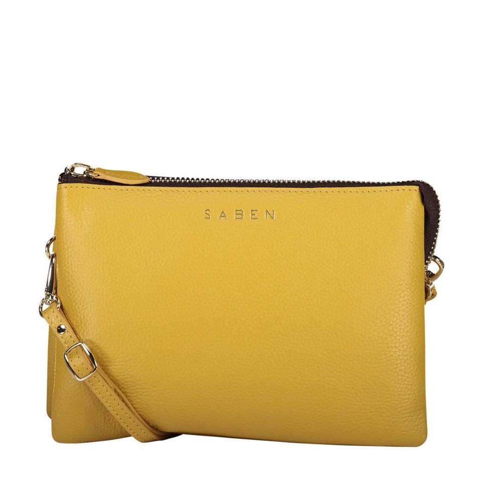 Saben Tilly's Big Sis Leather Handbag - mustard