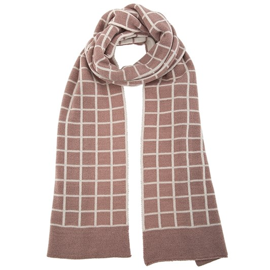 Dents Knitted Scarf With Check Pattern