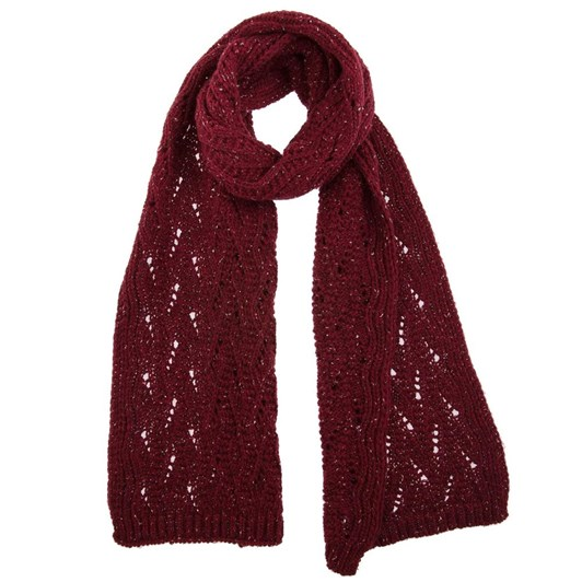 Dents Knitted Scarf With Marl Yarn And Lace Knit Pattern