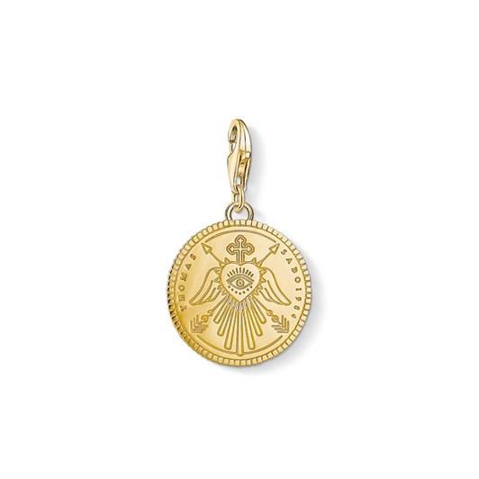 Thomas Sabo C/Club Engrav. Eye Angel Wings Gp Coin