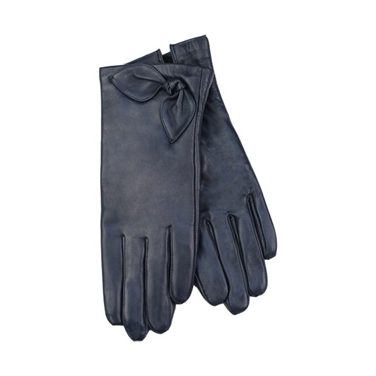 Jendi Leather Glove With Bow Detail