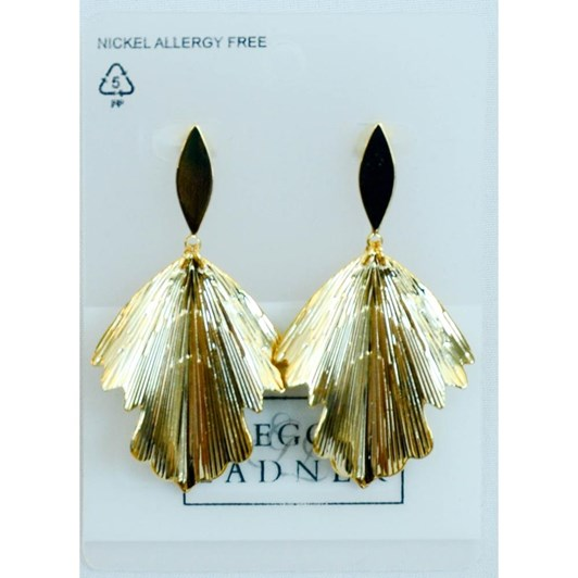Gregory Ladner Textured Leaf Drop Earrings