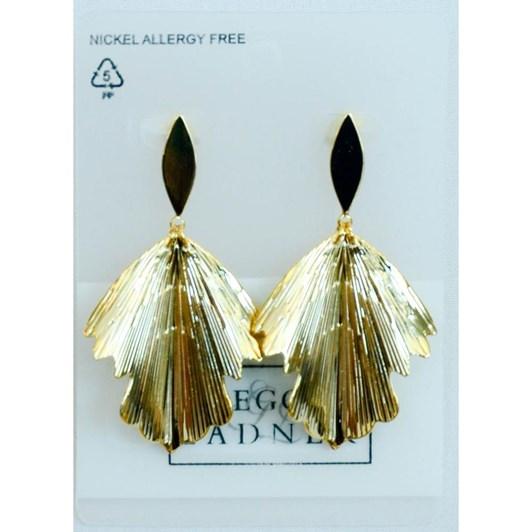Gregory Ladner Textured Leaf Drop Earrings