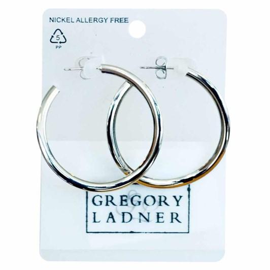 Gregory Ladner Flat Hoop Earrings