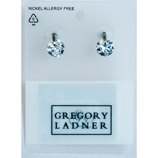 Gregory Ladner CZ w Metal Post Earring Rhodium