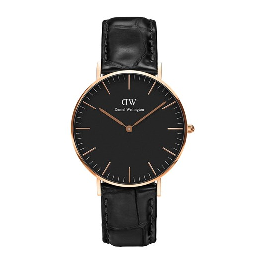 Daniel Wellington Classic Black Watches Rose Gold Reading 36mm