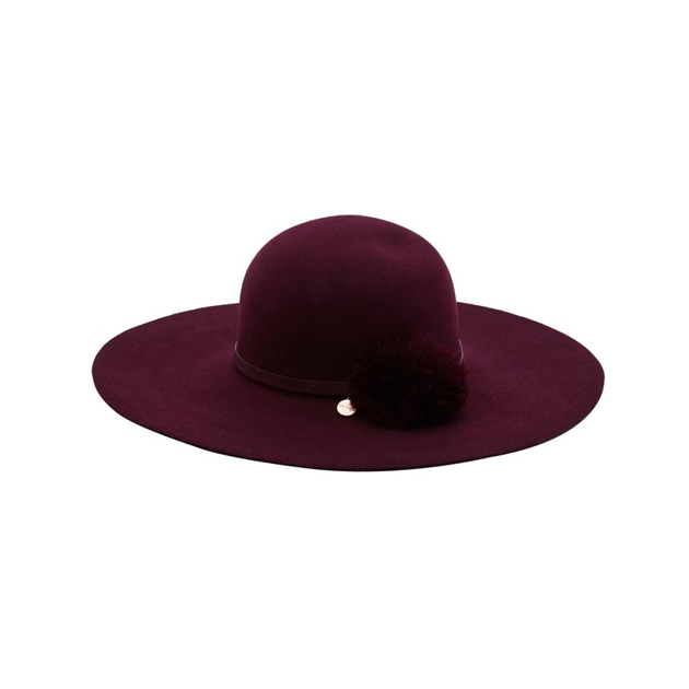 eb5dd1f04c606f Hats - Ted Baker Feather Pom Floppy Hat - Ballantynes Department Store