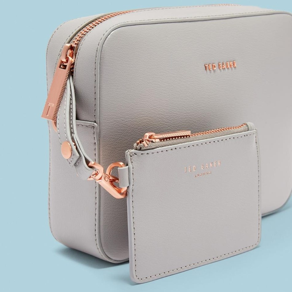 Ted Baker Core Leather Camera Cross Body - 05 grey