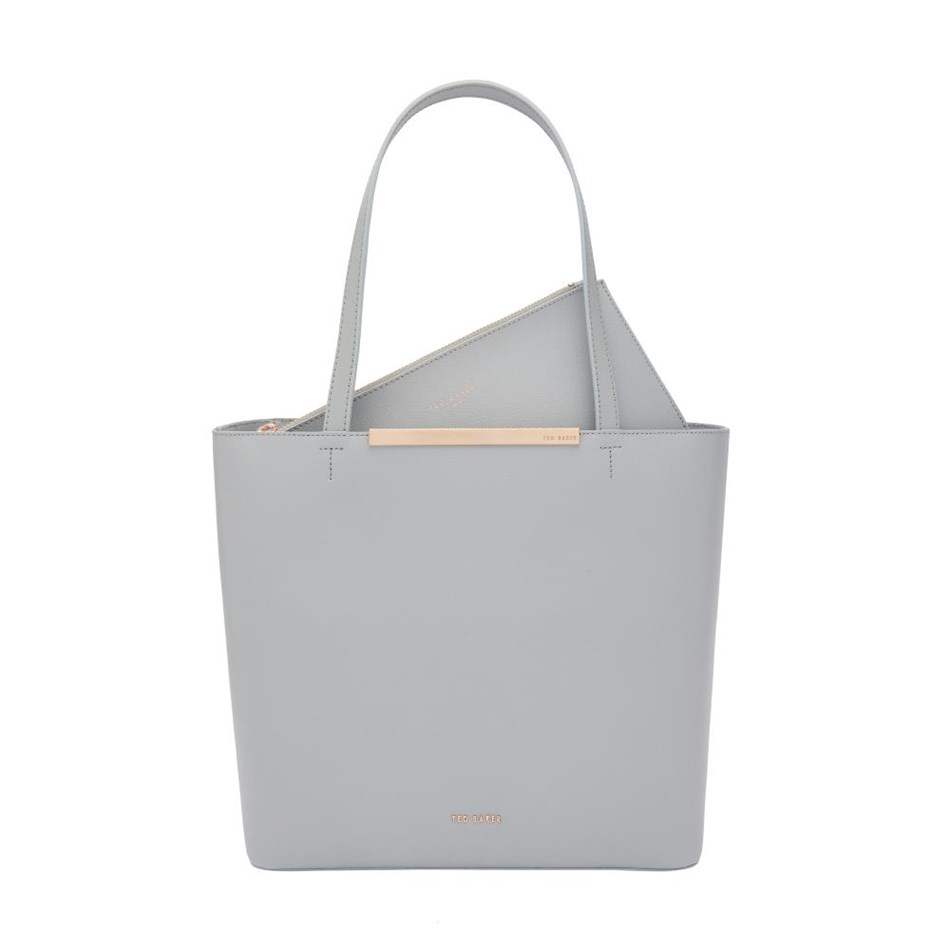 Ted Baker Core Leather Large Shopper - 05 grey