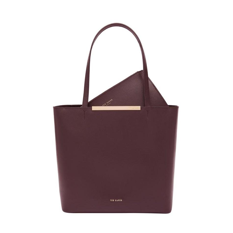 Ted Baker Core Leather Large Shopper - 60 deep purple
