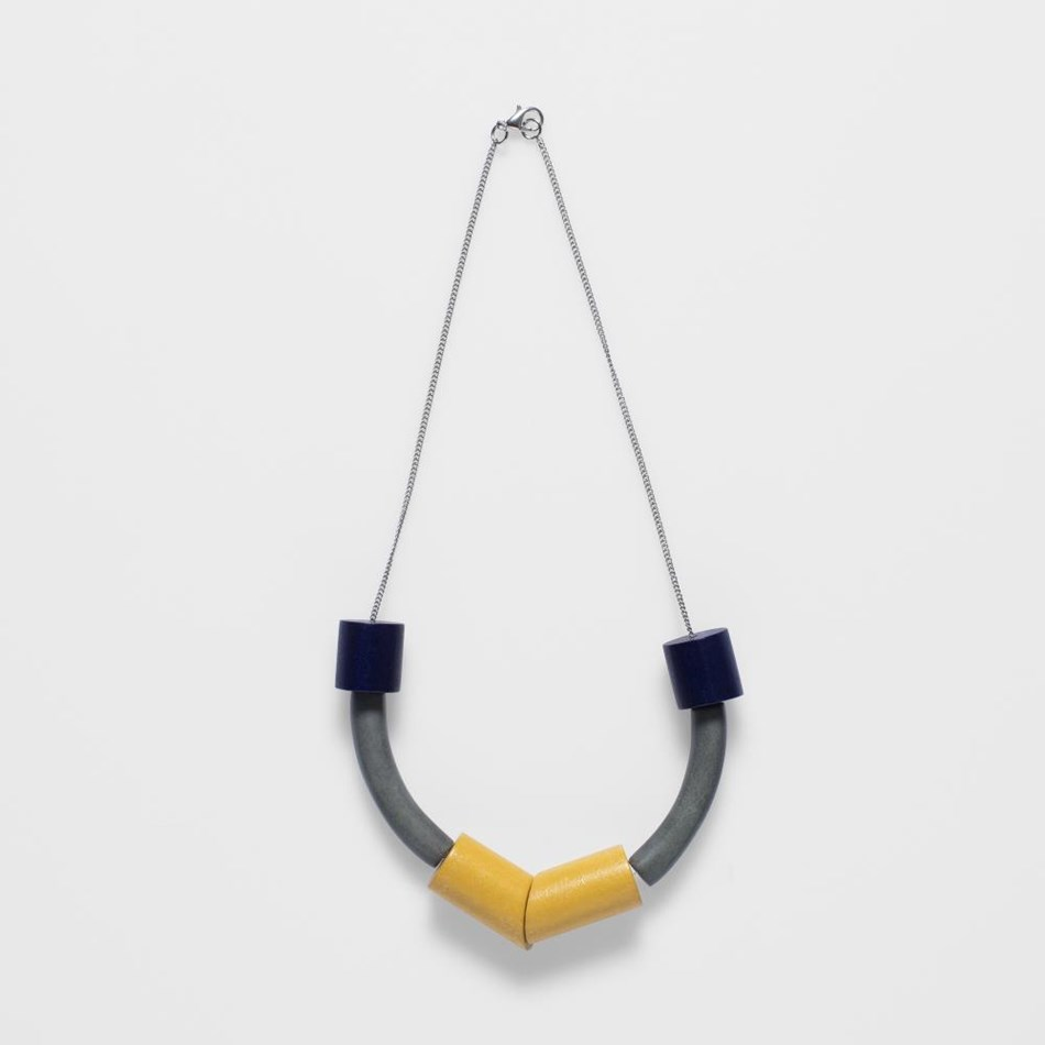 Elk Sanden Necklace - navy-lead-dijon