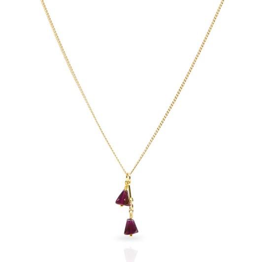 Petite Grand Garnet Drop Necklace