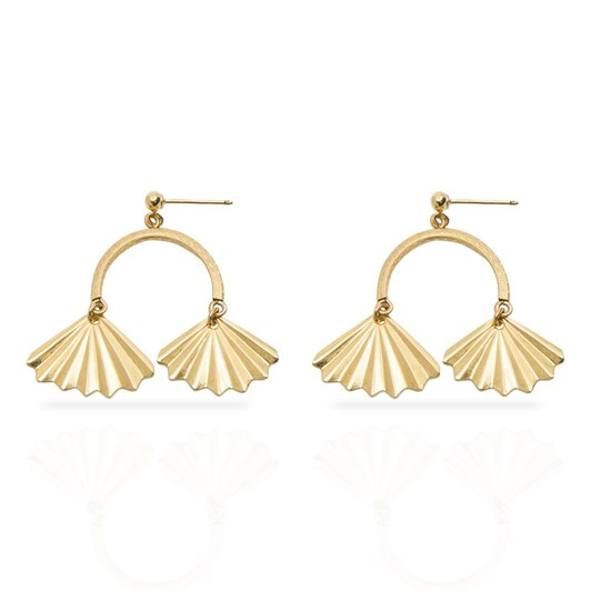 Petite Grand Double Fan Earrings