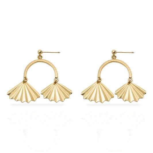 Petite Grand Double Fan Earrings