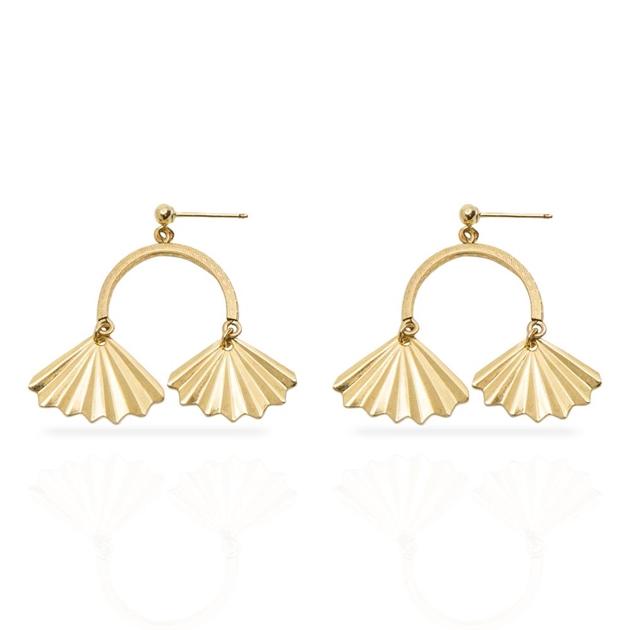 Petite Grand Double Fan Earrings -