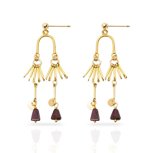 Petite Grand Garnet Earrings