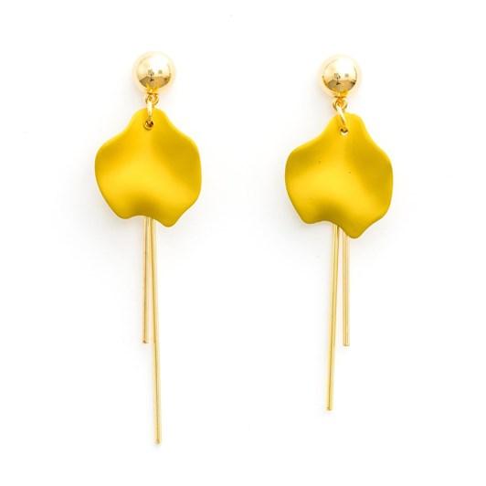 Stella & Gemma Single Bud Mustard Earring