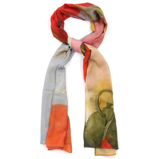 Front Row Society Poppies In Spring Wool Scarf