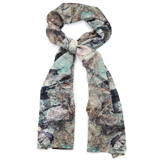Front Row Society Blue Forest Wool Scarf