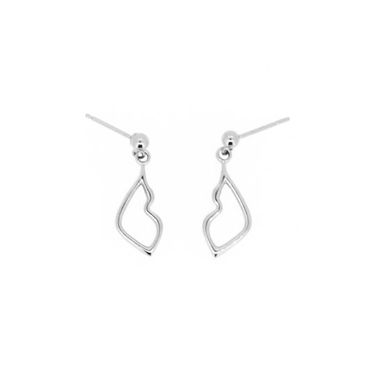 Holly Ryan Silver Kiss Droplet Earrings - Silver925