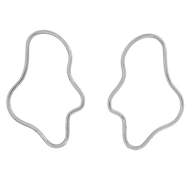 Holly Ryan Mini Elongated Squiggle Earrings - Silver925 -