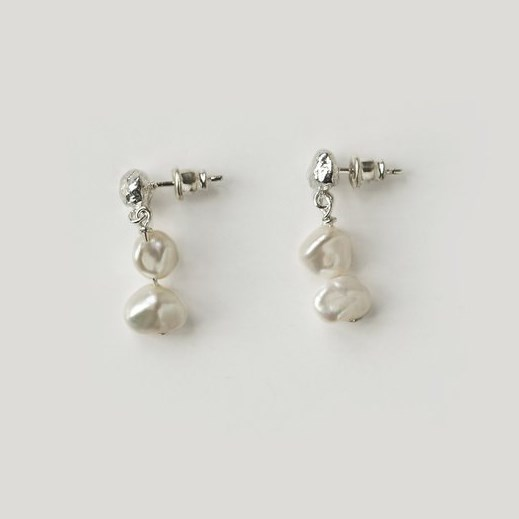 Holly Ryan Meteor Pearl Mini Drop Earrings - Silver925