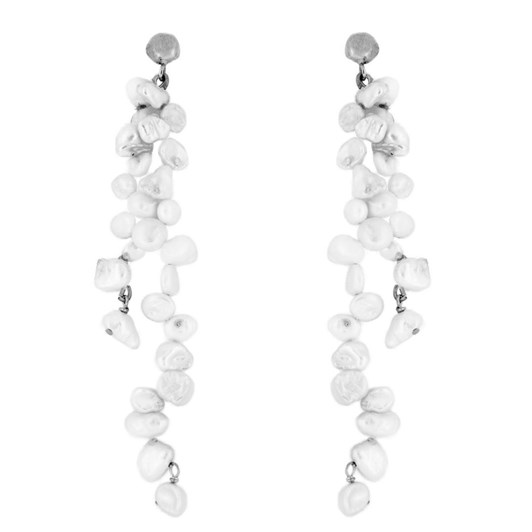 Holly Ryan Meteor Pearl Double Drop Earrings - Silver925