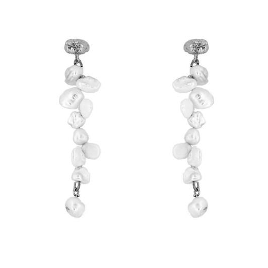 Holly Ryan Meteor Pearl Double Drop Earrings - Silver925